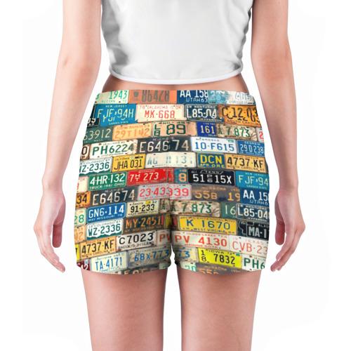 Женские шорты 3D  Фото 04, Автомобильные номера мира