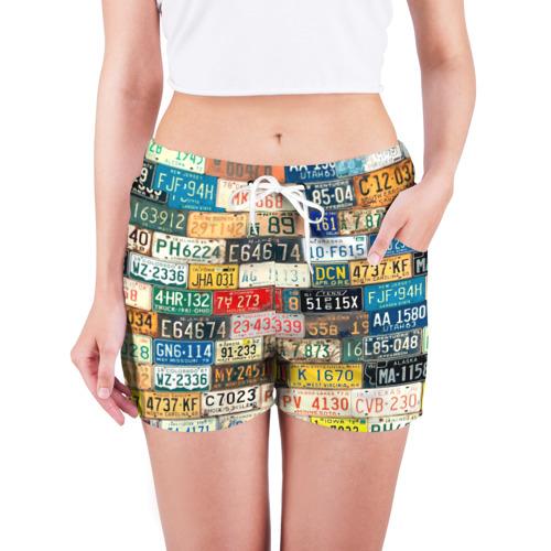 Женские шорты 3D  Фото 03, Автомобильные номера мира