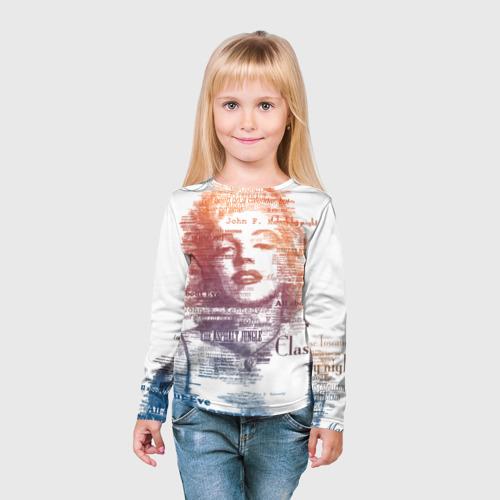 Детский лонгслив 3D  Фото 03, Мэрилин Монро