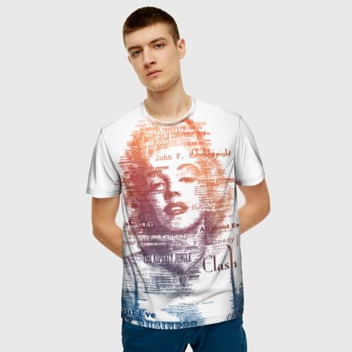 Мужская футболка 3D Мэрилин Монро Фото 01