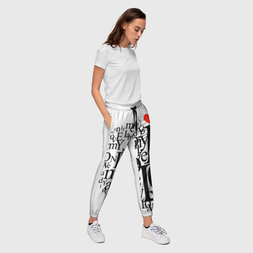 Женские брюки 3D  Фото 03, Love