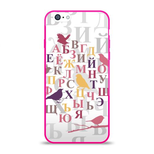 Чехол для Apple iPhone 6 силиконовый глянцевый Алфавит Фото 01