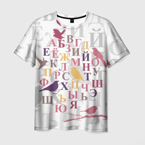 Мужская футболка 3D  Фото 03, Алфавит