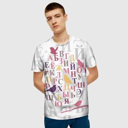 Мужская футболка 3D  Фото 06, Алфавит