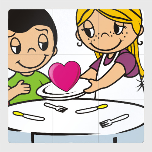 Магнитный плакат 3Х3 Love is... Любовь это...