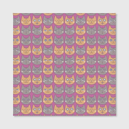 Холст квадратный Эмоции котиков Фото 01