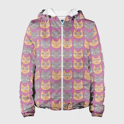 Женская куртка 3D  Фото 01, Эмоции котиков