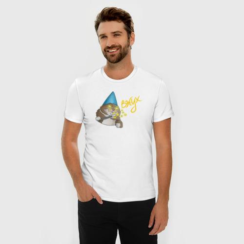 Мужская футболка премиум  Фото 03, ВЖУХ котик