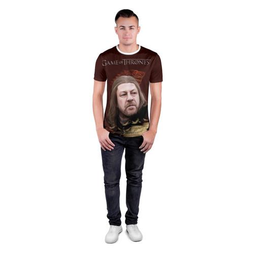 Мужская футболка 3D спортивная  Фото 04, Eddard Stark