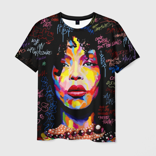 Мужская футболка 3D  Фото 01, Ямайка, девушка