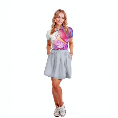 Женская рубашка поло 3D Дерево Фото 01