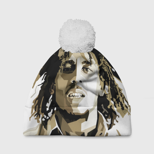 Шапка 3D c помпоном  Фото 01, Ямайка, Боб Марли