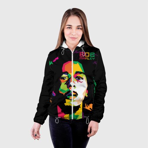 Женская куртка 3D  Фото 03, Ямайка, Боб Марли