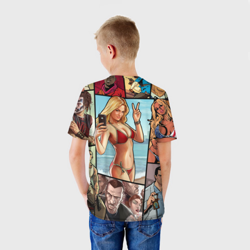 Детская футболка 3D Все GTA на одном постере Фото 01