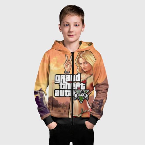 Детская толстовка 3D на молнии GTA Фото 01