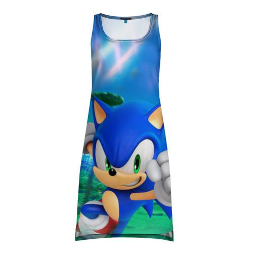 Платье-майка 3D Соник Бум
