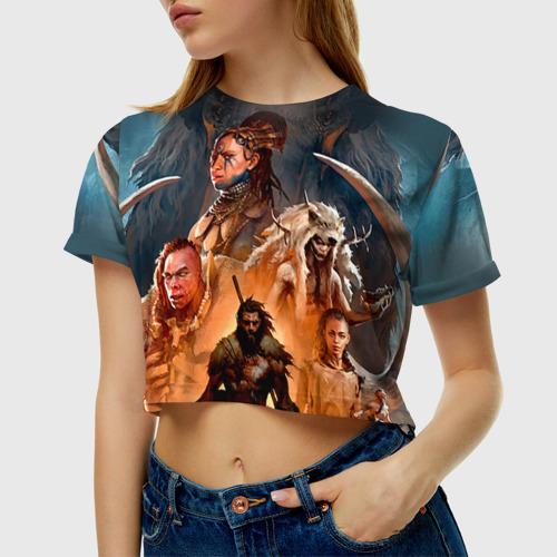 Женская футболка 3D укороченная  Фото 01, Far Cry Primal 4