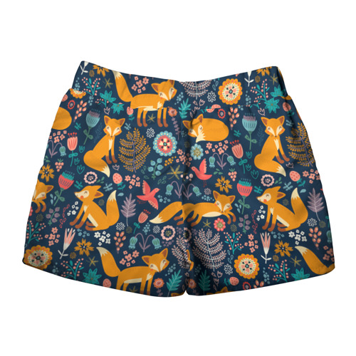 Женские шорты 3D  Фото 02, Лисички паттерн