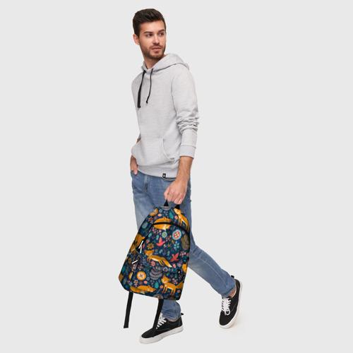 Рюкзак 3D Лисички паттерн Фото 01