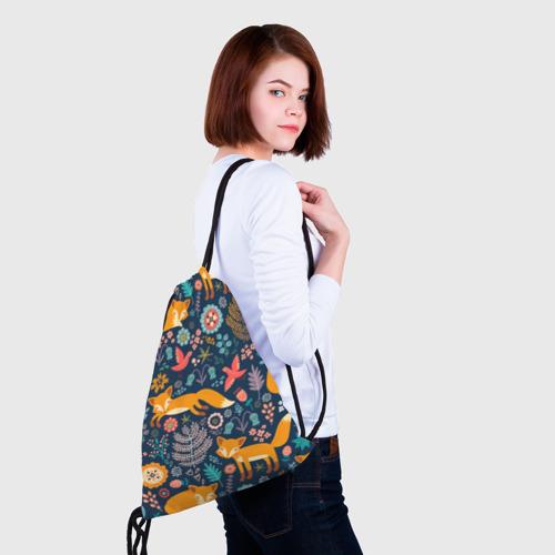 Рюкзак-мешок 3D Лисички паттерн Фото 01