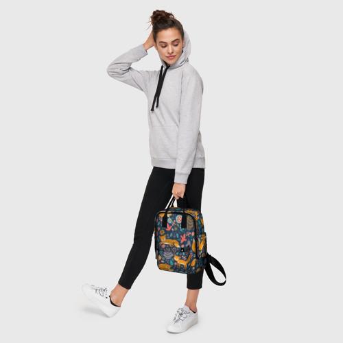 Женский рюкзак 3D Лисички паттерн Фото 01