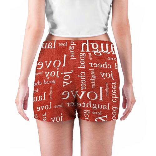Женские шорты 3D  Фото 04, Текстовой арт