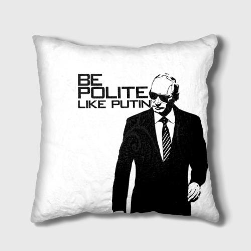 Подушка 3D  Фото 01, Вежливый Путин