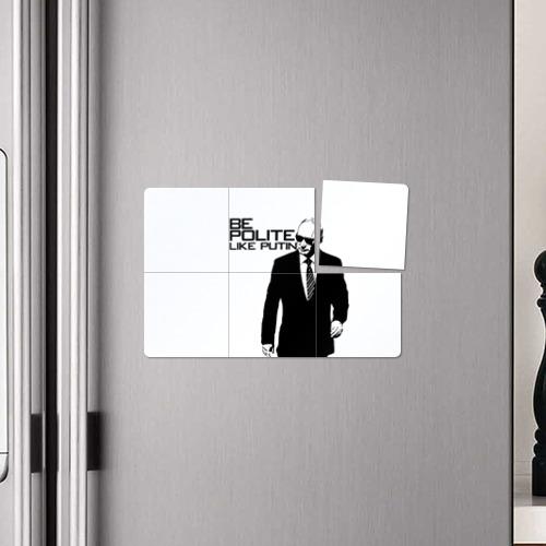 Магнитный плакат 3Х2  Фото 04, Вежливый Путин