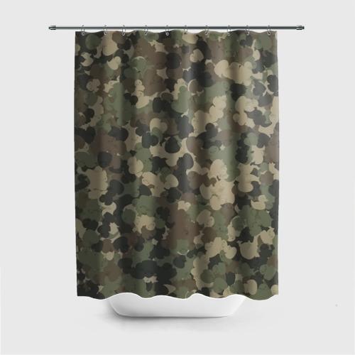 Штора 3D для ванной  Фото 01, Камуфляж с резиновыми уточками