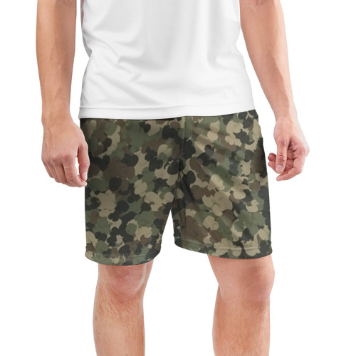 Мужские шорты 3D спортивные  Фото 03, Камуфляж с резиновыми уточками