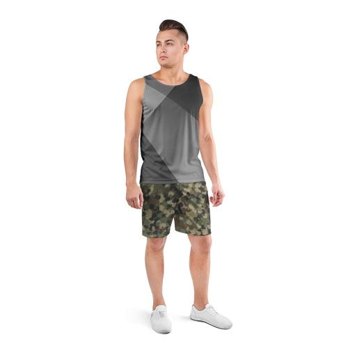 Мужские шорты 3D спортивные  Фото 04, Камуфляж с резиновыми уточками