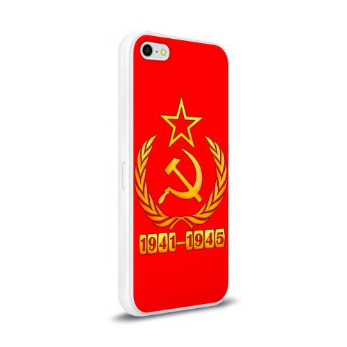 Чехол для Apple iPhone 5/5S силиконовый глянцевый  Фото 02, День Победы