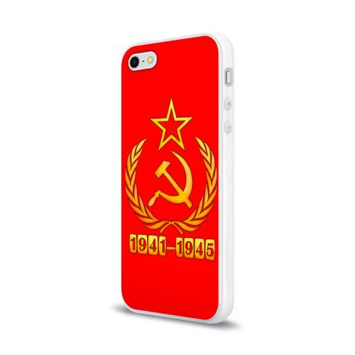 Чехол для Apple iPhone 5/5S силиконовый глянцевый  Фото 03, День Победы