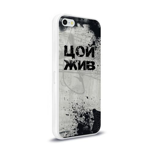 Чехол для Apple iPhone 5/5S силиконовый глянцевый  Фото 02, Стена Цоя