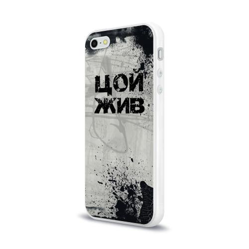 Чехол для Apple iPhone 5/5S силиконовый глянцевый  Фото 03, Стена Цоя