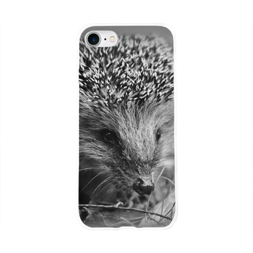 Чехол для Apple iPhone 8 силиконовый глянцевый  Фото 01, Ежик