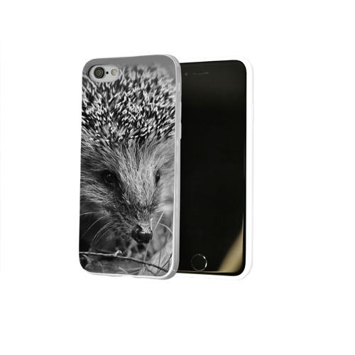 Чехол для Apple iPhone 8 силиконовый глянцевый  Фото 02, Ежик