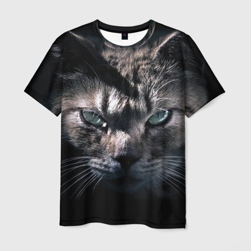 Мужская футболка 3D Котик