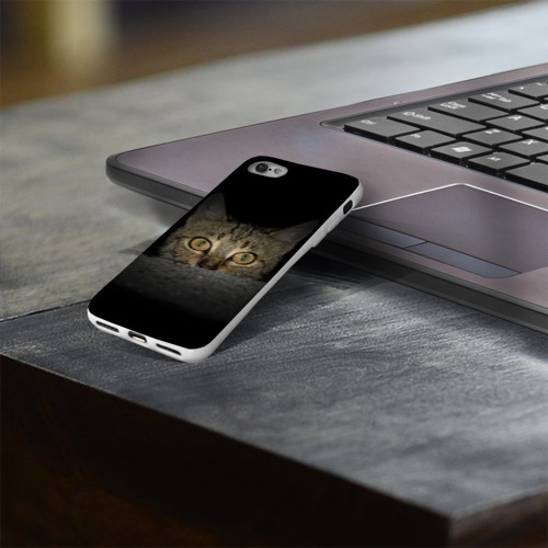 Чехол для Apple iPhone 8 силиконовый глянцевый  Фото 03, Котик