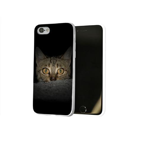 Чехол для Apple iPhone 8 силиконовый глянцевый  Фото 02, Котик