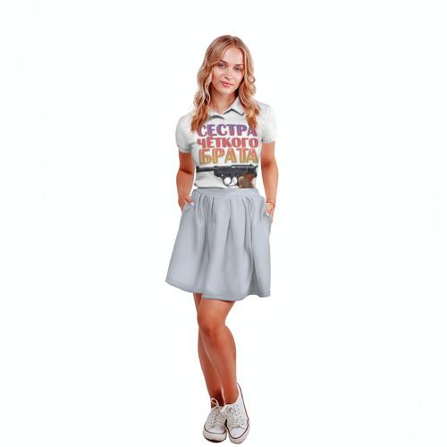 Женская рубашка поло 3D  Фото 04, Сестра четкого брата
