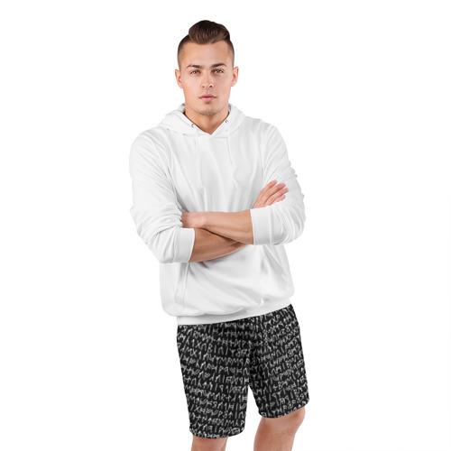 Мужские шорты 3D спортивные  Фото 05, Руны