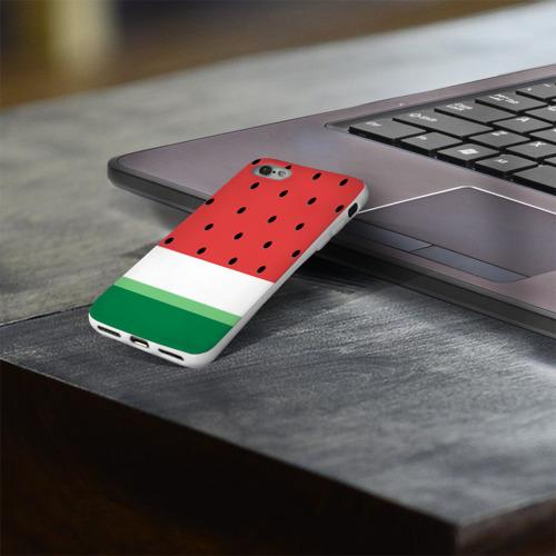 Чехол для Apple iPhone 8 силиконовый глянцевый  Фото 03, Сочный арбуз