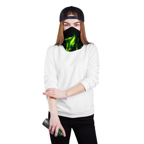 Бандана-труба 3D Зелёный огонь Фото 01
