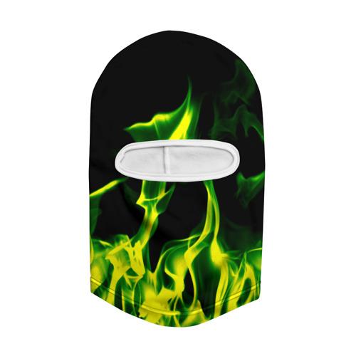 Балаклава 3D  Фото 02, Зелёный огонь