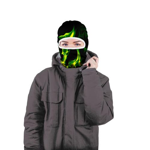 Балаклава 3D  Фото 04, Зелёный огонь