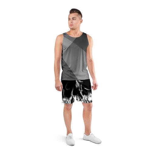 Мужские шорты спортивные Огонь Фото 01