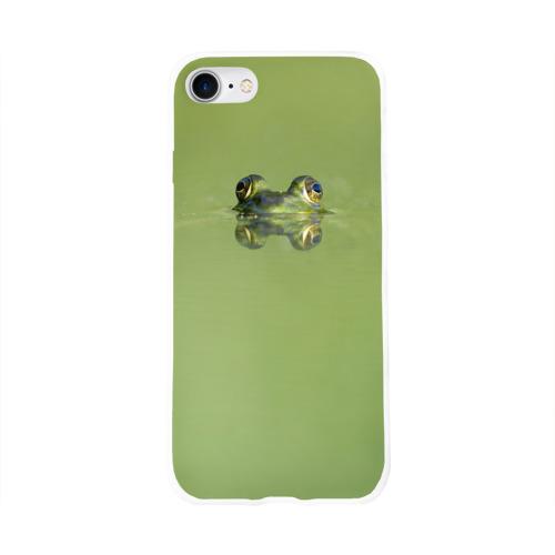 Чехол для Apple iPhone 8 силиконовый глянцевый  Фото 01, Лягушка