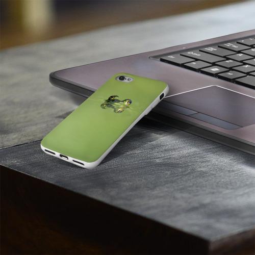 Чехол для Apple iPhone 8 силиконовый глянцевый  Фото 03, Лягушка