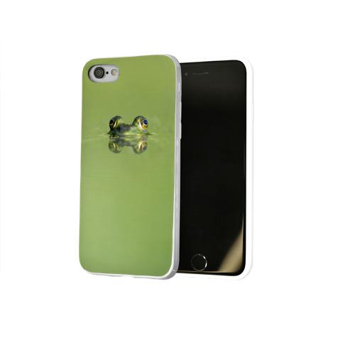 Чехол для Apple iPhone 8 силиконовый глянцевый  Фото 02, Лягушка